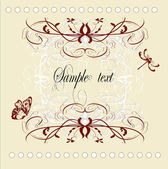 Vintage decorative vector frame with place for text or message — Stock Vector