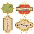 Set of vintage labels — Stock Vector #9585459