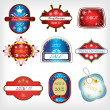 Vector set christmas labels — Stock Vector