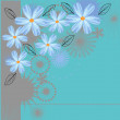Vector background with blue flowers — Vektorgrafik
