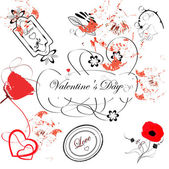 Grunge vector illustration with Valentine — Stock Vector