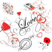 Love vintage background — Stock Vector