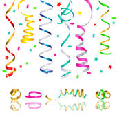 Streamers and confetti — Stock Vector