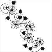 Vector flower pattern on white background — Stock Vector