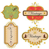 A set of vintage labels — Stock Vector