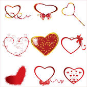 Kolekce srdce — Stock vektor