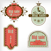 Old retro vintage sale label — Stock Vector