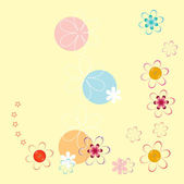 Floral background with a gentle children — Stock Vector