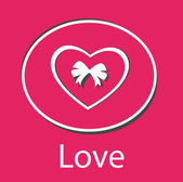 Love background with heart — Stockvector
