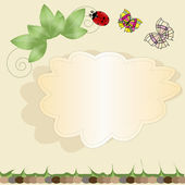 Nature vector background with a label — Stock Vector