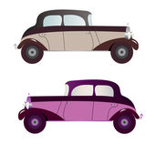 Vintage car collection — Stock Vector