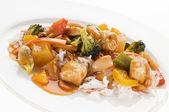 Chicken chop suey — Stock Photo