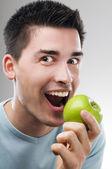 Eating fruit — Stock Photo