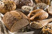 Bread background — Stock Photo