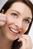 Flossing — Stock Photo