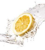 Lemon splash — Stock Photo