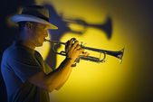 Trumpet jazz — Stock Photo