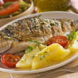 Roasted fish — Stock Photo