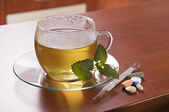 Tea and medical — Stock Photo