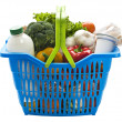 Basket with groceries - Stock Photo