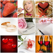 Valentine collage — Stockfoto