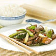 Beef chop suey - Stock Photo