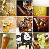 Alkohol koláž — Stock fotografie