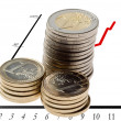 Stock Photo: Eur coins