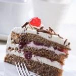 Cherry cake — Stock Photo #9157489