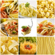 pasta collage — Stockfoto #9157841