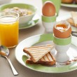 Foto Stock: Boiled egg