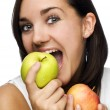 Eating Apple — Stock Photo #9764195