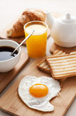 Egg for breakfast — Stock Photo