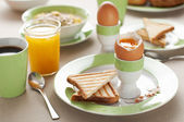 Boiled egg — Stockfoto