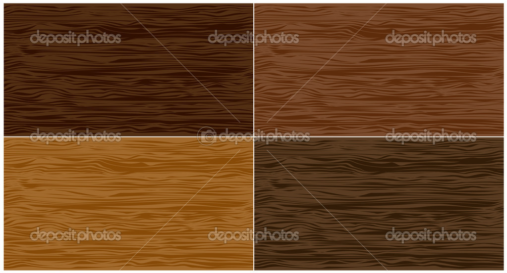 Set wood seamless patterns. Vector illustration  Stock Vector #10654848
