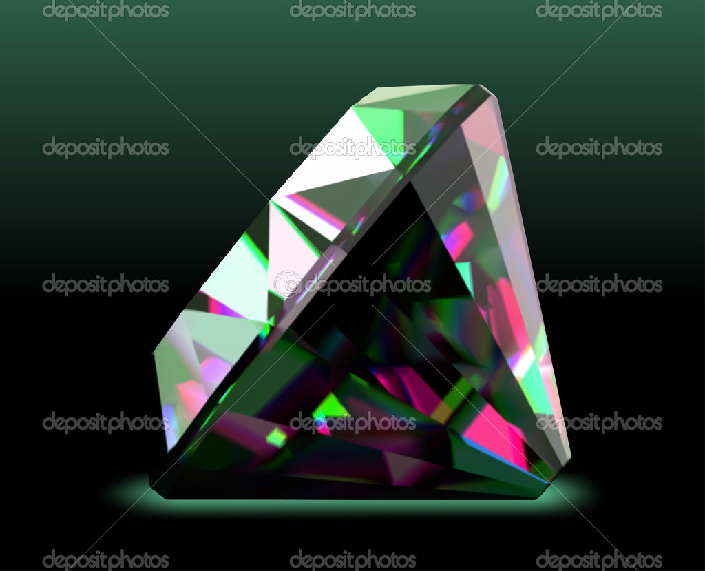 Shiny and bright diamond. Vector illustration  Stock Vector #10656578