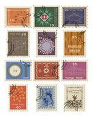 Stamp set for sale. Vector illustration. — Stock Vector