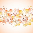 Floral background with butterfly. Vector — 图库矢量图片