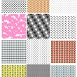 Set of seamless backgrounds. Vector — Stock Vector