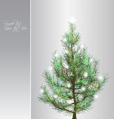 Christmas background with fir-tree. Vector — Stock Vector