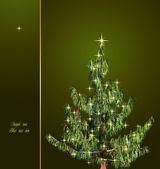 Christmas card with fir-tree. Vector — Stock Vector