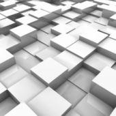 White brick wall, with random height bricks — Stock Vector