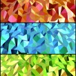 Collection of Abstract backgrounds with triangle. Vector - Stock Vector