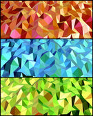 Collection of Abstract backgrounds with triangle. Vector — Stock Vector