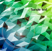 Abstract cyan background. Combination of triangle. Vector — Stock Vector