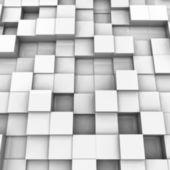 White brick wall, with random height bricks. Vector — Stock Vector
