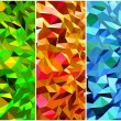 Stock Vector: Set of Abstract backgrounds with triangle. Vector