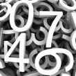 Set of digital numbers. Vector background — 图库矢量图片 #9726307