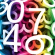 Abstract background with colorful digital numbers. Vector — Stock Vector #9726367