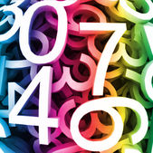 Abstract background with colorful digital numbers. Vector — Stock Vector